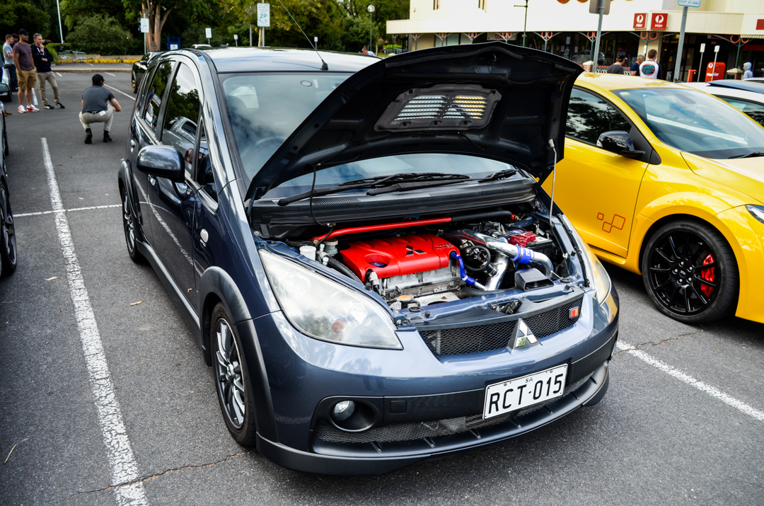 Cars and Coffee Unley Jan 2017 Mitsubishi Colt