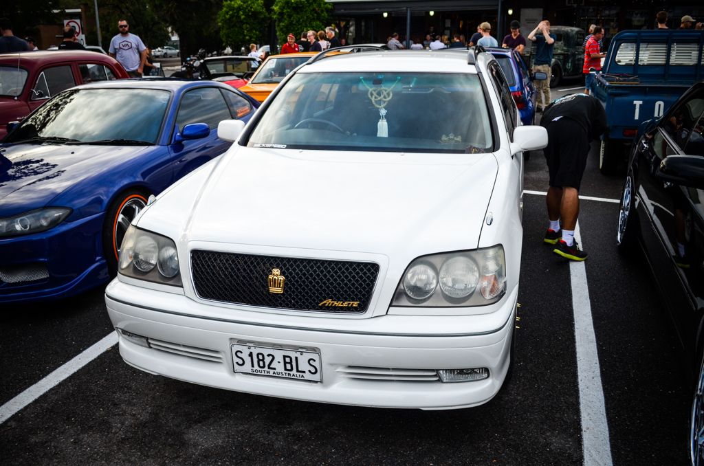 Toyota Crown at Coffee And Cars Blackwood March 2017