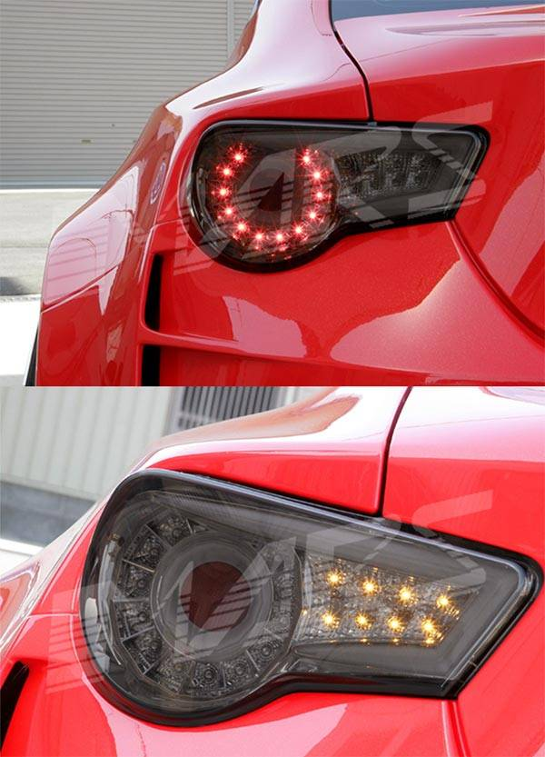 Smoked LED tail lights for Toyota 86 and Subaru BRZ